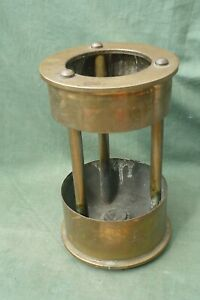 """Trench Art Lamp made from 2 x 4.5"""" Howitzer Shell Cases  1916 / 1917"""