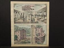 Pennsylvania Beaver County Map Dental Parlor Publishing Engravings 1876 Q4#76