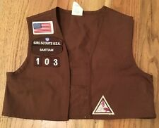 Girl Scout USA Brownie Uniform Vest Patches Small 6-8 SANTIAM Halloween 2007 103