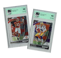 Joe Burrow & Tua Tagovailoa 2020 PRIZM Draft #101,105  2) Rookie Card Lot PGI 10