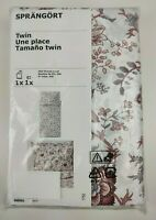 New IKEA SPRANGORT Twin Size Duvet Cover and Single Pillowcase White Pink Floral