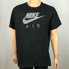 Men's Nike Air Reflective Graphic Logo Black Gray Tee T Shirt Size Xxl Flaw