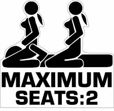 Sticker Maximum Seats: 2 JDM Tuning Autoaufkleber Stickerbomb Aufkleber Moped