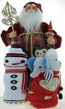 Snowman & Christmas Love 2-Insulated Wine Beer Water Bottle Koozie Coozie Holder