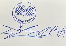Tim Burton 'Jack Skellington' Sketch Doodle 11.5x8 Art Drawing Signed