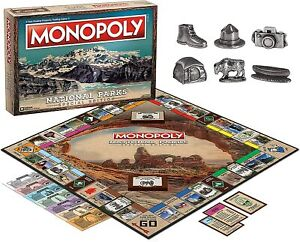 Monopoly National Parks 2020 Edition Board Game