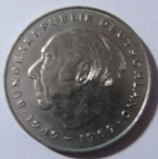 2 DM Deutsche Mark Deutschland Theodor Heuss 1977 D Umlaufgeld Kursmünze