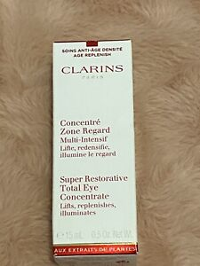 Clarins Super Restorative Total Eye Concentrate (15mL/0.5Oz) NEW IN BOX