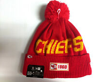 Kansas City Chiefs Knit Hat New Era 2019 Sport On Field Sideline Road Cap NFL