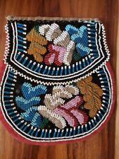 1860's Antique Beaded Bag Purse Native American Tuskarora