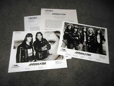 ANNIHILATOR 1990 Never, Neverland Press Kit With TWO 8x10 Promo Photos