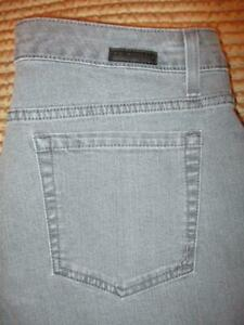 Jones New York Jeans Lexington Straight Stretch Women's Gray Size 12 x 30 New