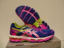 Asics women's running shoes gel surveyor 5 blue pink lime size 8