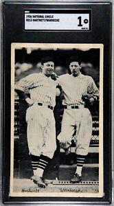 1936 NATIONAL CHICLE - HARTNETT / WARNECKE - CHICAGO CUBS - SGC POOR 1