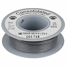 Consolidated Stranded 24 AWG Hook-Up Wire 25 ft. Gray UL Rat