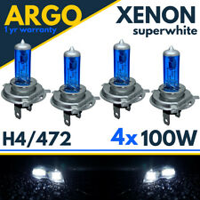 H4 Xenon White Headlight 100w bulbs Super 472 Headlamp Fog light Halogen 4x Car
