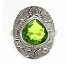 2CT Peridot 925 Solid Genuine Sterling Silver Ring Jewelry Sz 6.5, K1-8