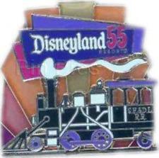 Disney Pin 76081 55th Anniversary Cast POM Retro Santa Fe Railroad Train LE *