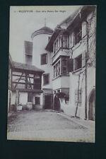 68 HAUT RHIN ALSACE RIQUEWIRE COUR MAISON HUGEL EDITION BERGERET