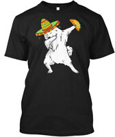 Funny Samoyed Dog Dabbing Taco Cinco De Hanes Tagless Tee T-Shirt