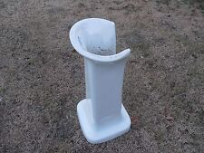 MOTT PORCELAIN PEDESTAL SINK STAND  100 YEARS OLD?