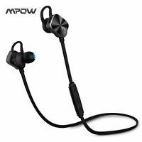 Mpow® Bluetooth 4.1 Earphones Sweatproof Wireless Headphone Metal Coach Headset