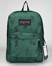 Jansport Superbreak MENS & WOMENS Backpacks Rucksack - Green Animal