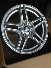 17 Zoll Borbet XR Felgen 8x17 et30 5x120 Silber Gutachten BMW E90 E91 E92 E93 30