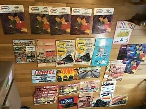Lot Of 50+ Vintage 1939 -1990's Lionel Train Store Catalogs & Brochures