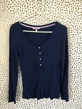 Victoria's Secret pajama long sleeve top size M blue