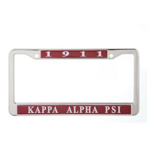 Kappa Alpha Psi 1911 Chrome Silver Metal License Plate Frame BRAND NEW!!!