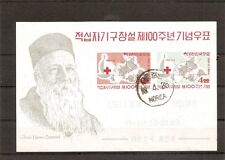 Korea SC # 384a Centenary of the international red cross.Souvenir Sheet. Hinged