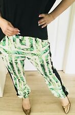 COOPER ST WOMENS PANTS PRINTED POCKETS GREEN WHITE BLACK SZ 12