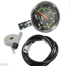 "Bicycle Bike Classic Round Speedometer Vintage Style Odometer 24-29"" Wheels"