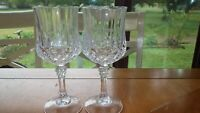Longchamp Water Glasses Cristal D'Arques 2 8 ounce elegant stem goblets