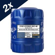 MANNOL 2x20L Hydraulic Oil 46 Fluid HLP 46 High Grade 40 Litres ISO 46 DIN 51524