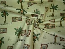 """~13 2/8 YDS~MILL CREEK~""""TROPICAL PALMTREES""""~COTTON UPHOLSTERY FABRIC FOR LESS~"""