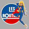 LES ROUTIERS STICKER PINUP CAMION TRUCK SEXY GIRL 9cm AUTOCOLLANT PC220