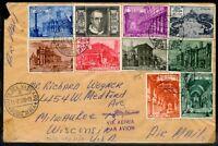 Vaticano 1949 Busta Viaggiata n. 124/131 + Ex n. E11/E12 (s126)