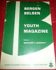 Bergen Belsen Youth Magazine, WW2 Jewish Holocaust,  Judaica