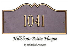 Whitehall Hillsboro Petite Address Personalized Plaque 17 Color Choices Wall Mt