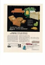 VINTAGE 1957 NIAGARA CYCLO-MASSAGE RECLINER FURNITURE HOME OFFICE AD PRINT