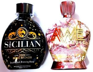 The Sicilian 200x Bronzer & Designer Skin AWESTRUCK 65x Tanning Bed Lotion
