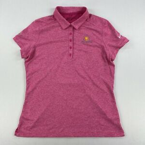 Nike Golf Womens Polo Presidents Cup Short Sleeve Shirt Size Large