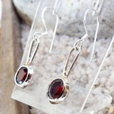 Granate-Ohrschmuck mit Hakenverschluss echten Edelsteinen aus Sterlingsilber