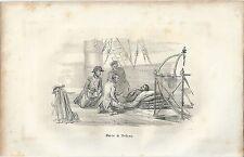 1846 MORTE DI NELSON Horatio litografia Trafalgar  War of the Third Coalition