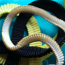 DIY Browbands - 50cm X 16mm Double Sided Satin Ribbon PLEATED. 23 Colours!