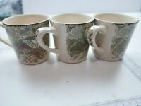 Lot of 3x Coffee Mug Old Country Bridges Friendly Village Made in England