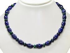 Beautiful Necklace in Lapis Lazuli Oval Shape U.Spacer Beads Azurite-Malachite