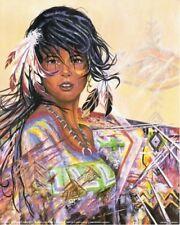 African American Indian Maiden Girl Native American Wall Decor Art Print (16x20)
